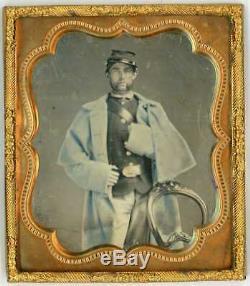 Rare Sixth-Plate Tinted Civil War Soldier Daguerreotype