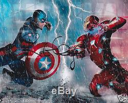 Robert Downey Jr Signed 8x10 Photo Iron Man Captain America CIVIL War Autograph