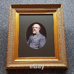 Robert E Lee Confederate Civil War General Framed Photo Large Ornate Frame