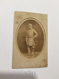Robert E. Lee Original Carte De Vista Photo Rare Image Civil War Autographed