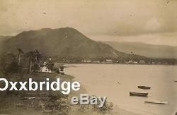 SAMOAN CIVIL WAR Samoa Crisis WEBER HOUSE ALBUMEN PHOTO German US UK 1880 Sepia