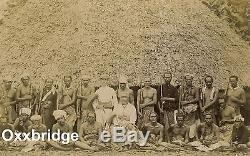 SAMOA CIVIL WAR Mataafa Malietoa Chief SAMOAN Albumen Photo ARMY Village Guard