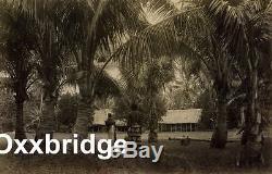 SAMOA NATIVE HUT Samoan Village CIVIL WAR Costume POLYNESIA Albumen Photo 1880's