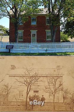 Scarce Gettysburg CIVIL War Codori House Pickett's Charge Robert E Lee CDV Photo