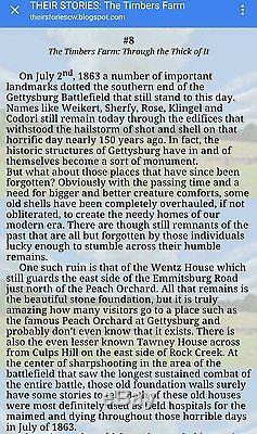 Scarce Gettysburg Day 2 CIVIL War Wentz Farm Peach Orchard Potomac Pa CDV Photo