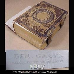 Scarce 1861-63 Civil War CDV Photo Album 36 CDVs Lincoln Cabinet Members General