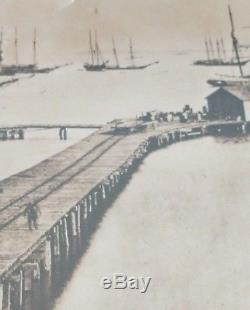 Scare Civil War Photo of Wharf Point Virginia before explosion by Mathew Brady