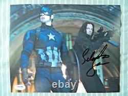 Sebastian Stan Signed Captain America Civil War 8 x 10 Color Photo