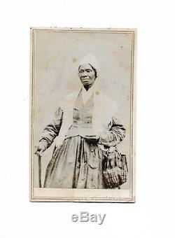 Sojourner Truth Abolitionist With Backmark Civil War CDV
