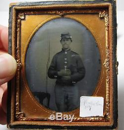 Tintype Photo Civil War Soldier Cased Image Ambrotype 1860s Rochester NY
