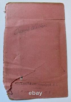 Tintype and Civil War Discharge of Pvt. Joseph Walton 1st New Jersey Light Arty