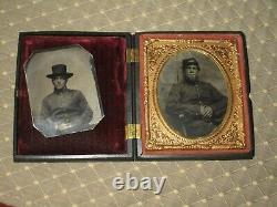 Two Civil War tintype photographs same soldier