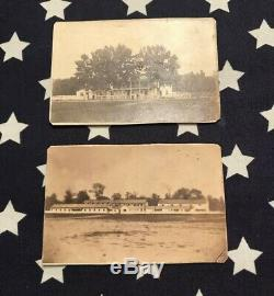 Two Rare Original CDV Images Camp Chase Ohio CIVIL War Prison 88th Ovi Columbus