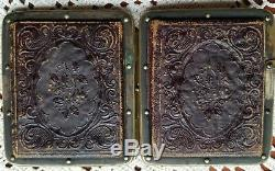 Two Tin Type B/W Photo Box Of Unknown Civil War Soldiers