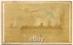 USS New Ironsides Civil War Navy Ironclad 1860s CDV Photo Fort Fisher Charleston
