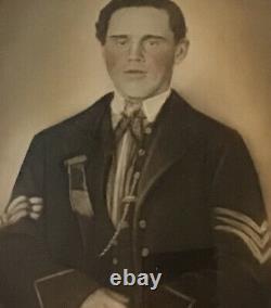 US Civil War Ribbon & Large Photo Lot Iowa 2nd Cavalry Crocker Brigade GAR Medal