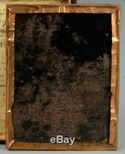 US Civil War tintype photograph group soldiers with cannon in gutta percha case