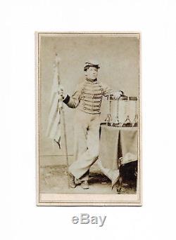 Union Drummer Boy Robert Hendershot With Brady Backmark Civil War CDV