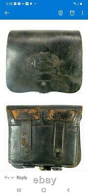 Very RARE CIVIL WAR Stamp A. D. Laidley U. S. Ord. Photo of Cartridge box Stamped
