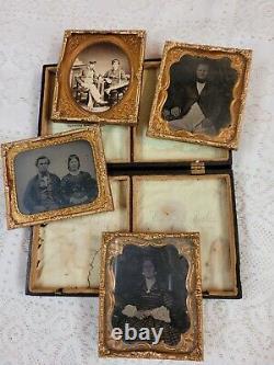 Victorian Daguerreotype Union Case Frame Civil War Soldiers Wife Photographs