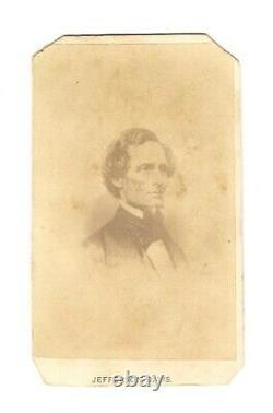 Vintage Antique Civil War Confederate CDV Photo Jefferson Davis with Dixie Song