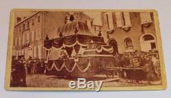 Vintage Antique Civil War Era ABRAHAM LINCOLN FUNERAL TRAIN CDV PHOTO