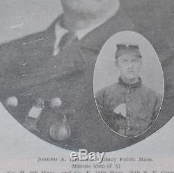 Vintage Civil War 1861 Massachusetts Minutemen Medal, 4th Regiment+Photo