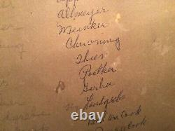 Vtg. Cabinet Photo Members of Shively Post 68 GAR Huntingburg IN Civil War Vets