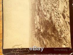 W. H. Tipton Original Civil War Gettysburg Little Round Top Pickett Charge Photo
