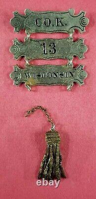 Wisconsin CIVIL War Ladder Badge/co. K 13th Reg. Wis/civil War Collectables