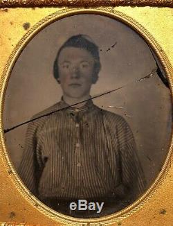 Yankee or Rebel Young Soldier Homespun Battle-shirt! Civil War! Ambrotype